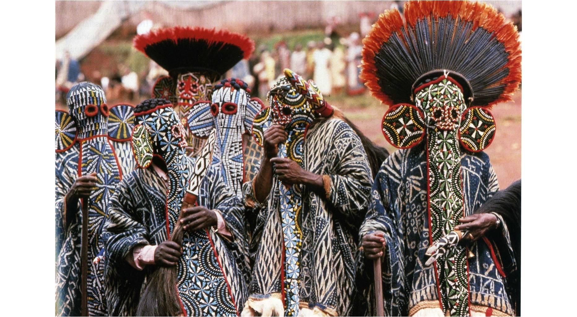 Aka Elephant Mask Bamileke Cameroon Western Grassfields Region C 19th To 20th Century C E Wood Woven Raffia Cl Ap Art History 250 African Art Juju Hat