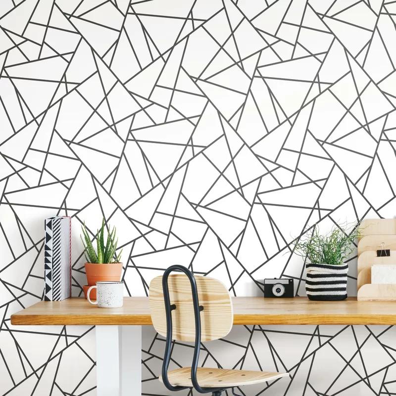 Fannie Fracture 16 5 L X 20 5 W Peel And Stick Wallpaper Roll Peel And Stick Wallpaper Wallpaper Roll Textured Walls