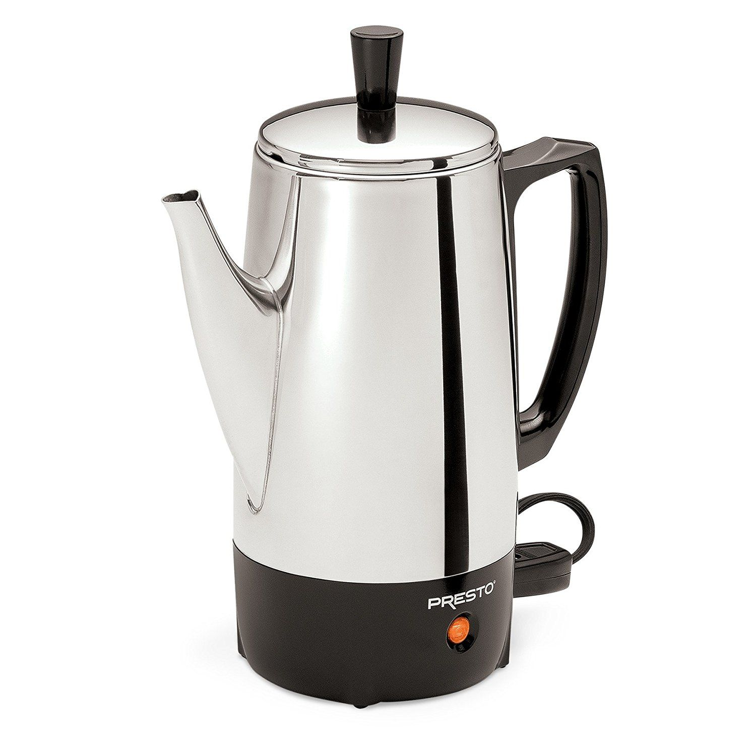 Amazon Com Presto 02811 12 Cup Stainless Steel Coffee Maker Electric Coffee Percolators Percolator Coffee Stainless Steel Coffee Maker Stainless Steel Coffee