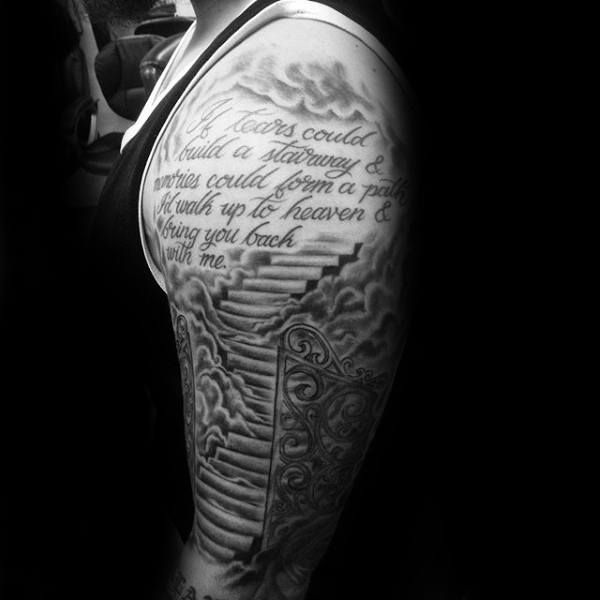 50 Heaven Tattoos For Men Higher Place Design Ideas Templer