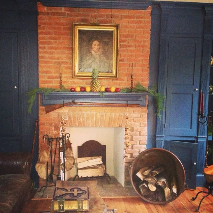 Colonial Home Decorating Ideas: Colonial Decorating Over Mantle. Not Strictly Williamsburg