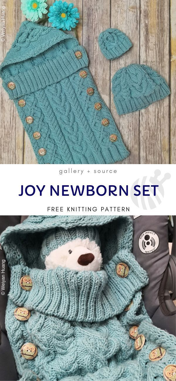 Cute Knitted Hooded Blankets Free Patterns   Baby knitting ...
