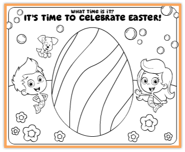 bubble guppies easter coloring page