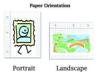 Paper Orientation Comparison Posters Oriental Paper Poster