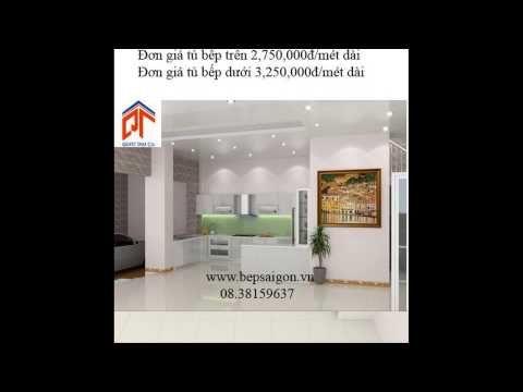 Giá tủ bếp Acrylic, tủ bếp gia đình Việt 08.38159637