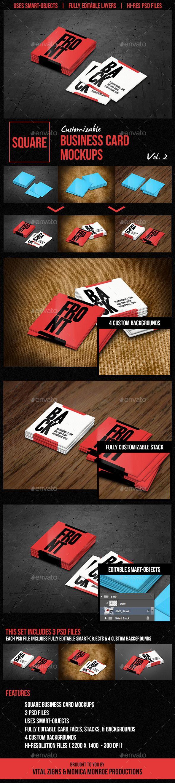 Square business card mockups vol 2 publicidade square business card mockups vol 2 reheart Gallery