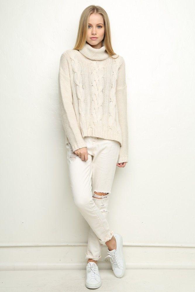 Brandy ♥ Melville | Zelly Turtleneck Sweater - Turtlenecks - Tops ...