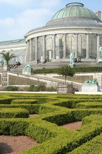 Dome In Jardin Botanique Brussels Belgien Botanischer Garten La Villa