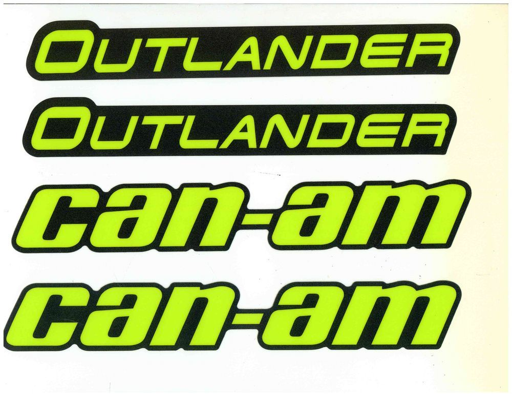 Details About Can Am Outlander Mudguard Decal Kit 704905083