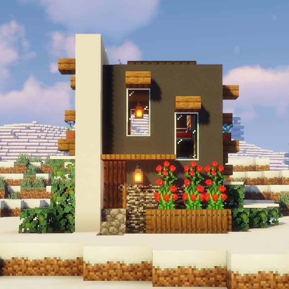 "Minecraft Simple Modern House Designs: @elite.game.spot On Instagram: ""Small Modern House"
