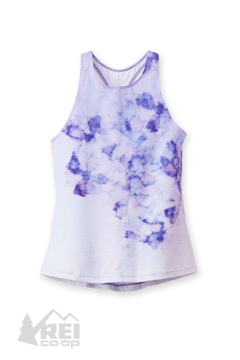 d48088fb8d765 Women s prAna Boost Printed Tank Top The prAna Boost Printed tank top gives  you a colorful studio presence. Its high neck and unlined lightweight  stretch ...
