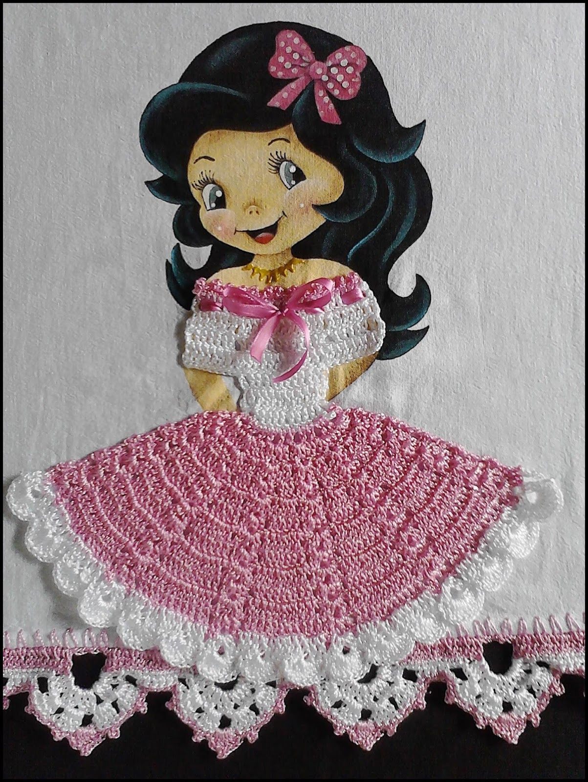 Extremamente Simone Pinturas & Crochês | bonecas com vestido de croche  IT34