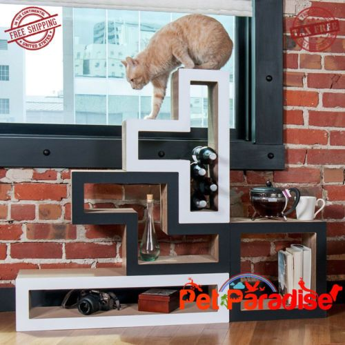 Cat-Modular-Scratch-Tree-Condo-Feline-Modern-Furniture-Pieces-Bundle-of-5-White