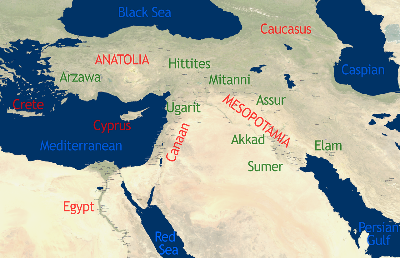 Overview map of the Ancient Near East