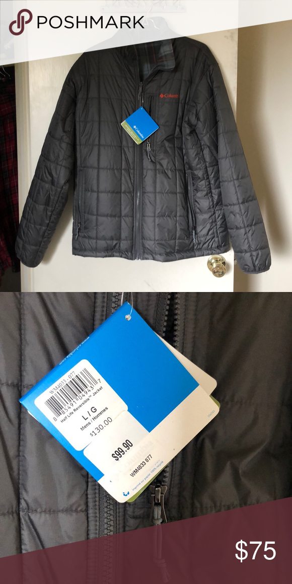 Columbia winter jacket Light weight quilted gray Columbia