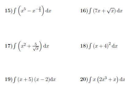 Integration Powers Sums And Differences Worksheet With Solutions Worksheets Math Worksheets Solutions