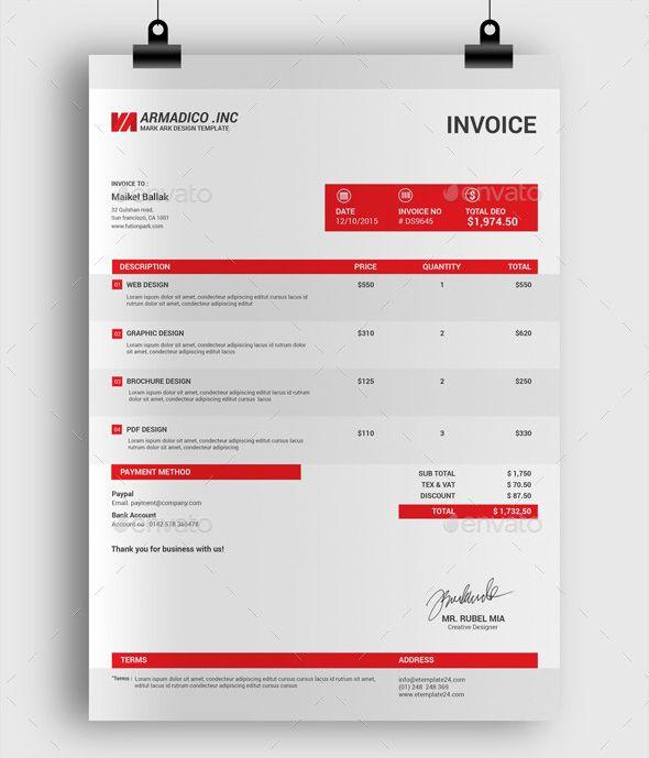 ProfessionalInvoiceDesignTemplateJpg   Design