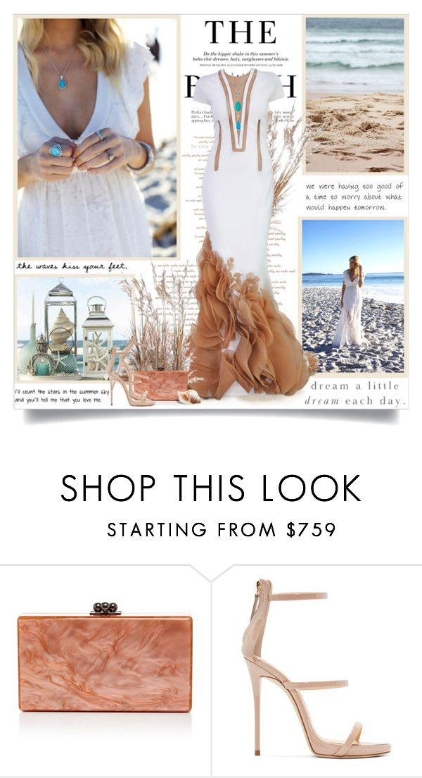"""""""Summer means happy times and good sunshine!!"""" by lilly-2711 ❤ liked on Polyvore featuring H&M, Stephane Rolland, Edie Parker, Giuseppe Zanotti, Chaps, BloggerStyle, GiuseppeZanotti, StephaneRolland, ivorylane and summer2016"""