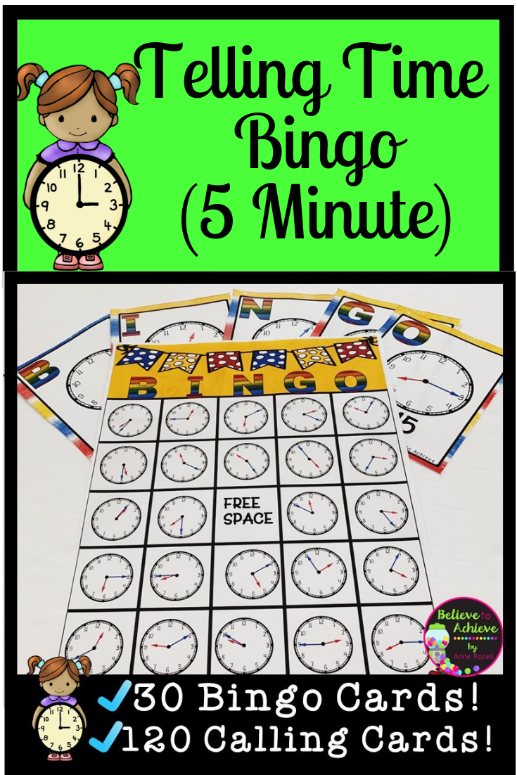 Telling Time Bingo 1st Grade Activities Second Grade Math 3rd Grade Math Worksheets [ 1102 x 735 Pixel ]