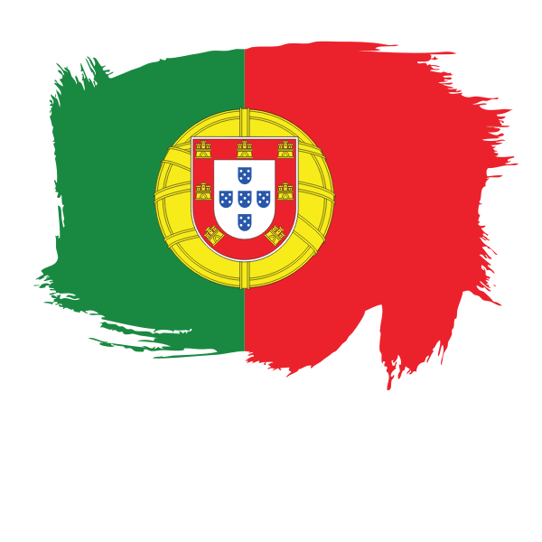 Painted Flag Of Portugal In 2021 Portuguese Flag Flag Free Clip Art