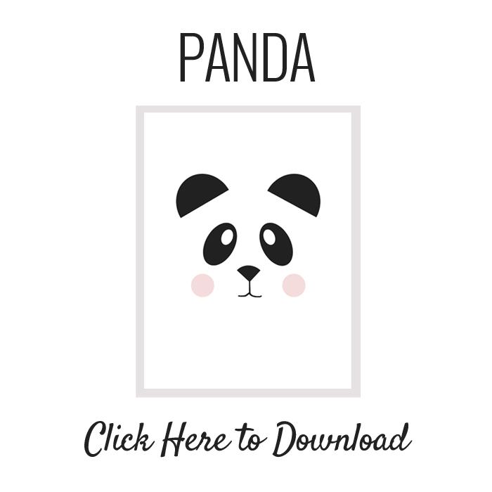 Làmina panda per imprimir