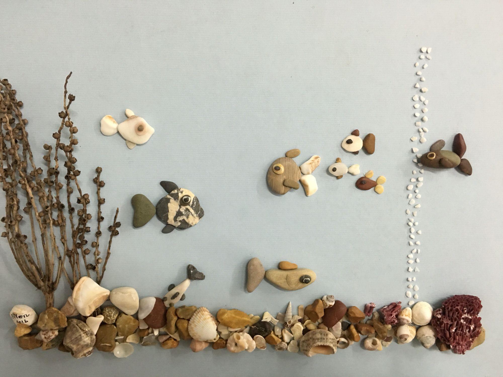 рыба картинки из камушков своими узнала избиении малышей