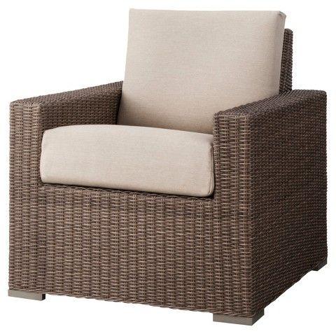 Wonderful Threshold™ Heatherstone Wicker Patio Club Chair