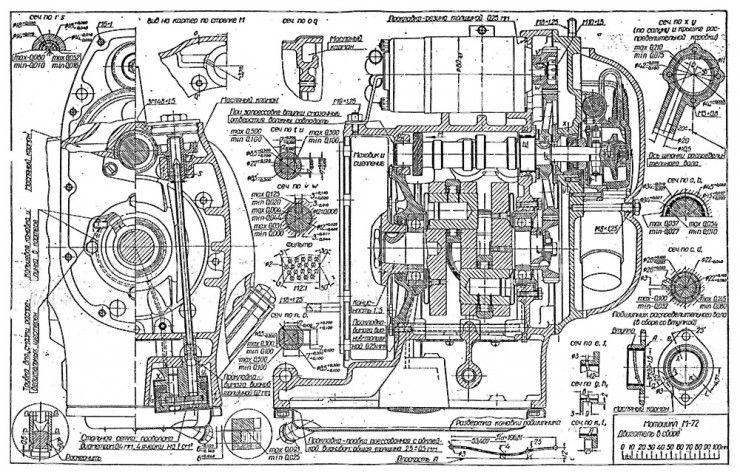 Russian M-72 Blueprints Diagram, Motorcycle art and Gas pumps - copy blueprint engines bp3501ctc1