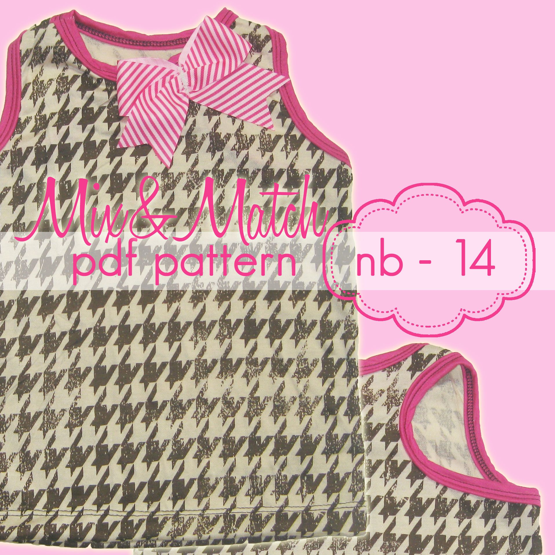 Mix & Match patterns are completely interchangeable and can be combined in endless variations ... this is only for the TEE BOTTOM, the bodice portion is NOT included -- we used the Racerback Tank Bodice This pattern includes a basic hip-length bottom that easily transforms ANY of our bodice patterns into a simple hip-length tee or tank !! www.jocole.net #jocolepatterns #mix&matchseries #bodicebottom