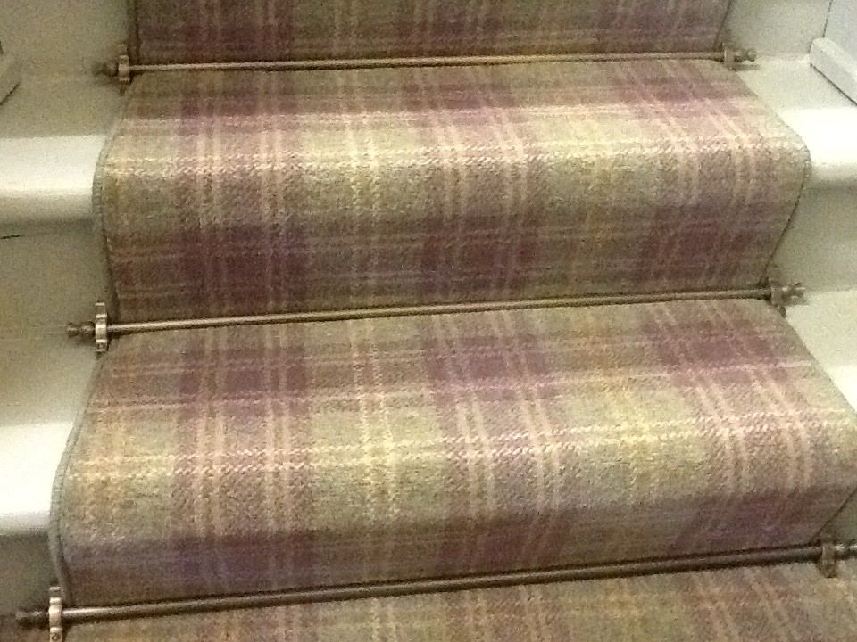 Ulster Carpets Braeburn Myrtle with stairrods. Both ...