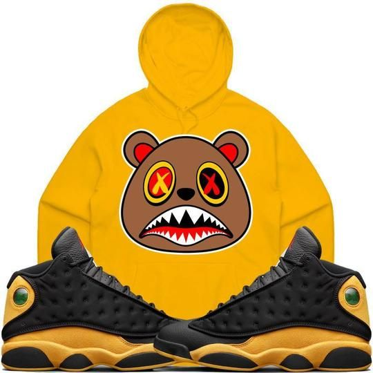 284e91f25edb Baws Hoodie HONEY BAWS Gold Sneaker Hoodie - Jordan 13 Oak Hill Melo