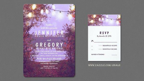 Night Lights Waterfront Wedding Invitations