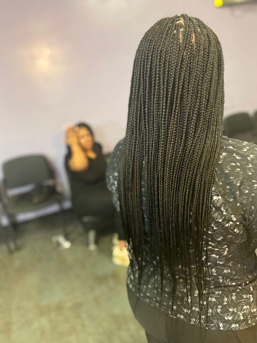30++ Medium knotless braids mid back ideas in 2021