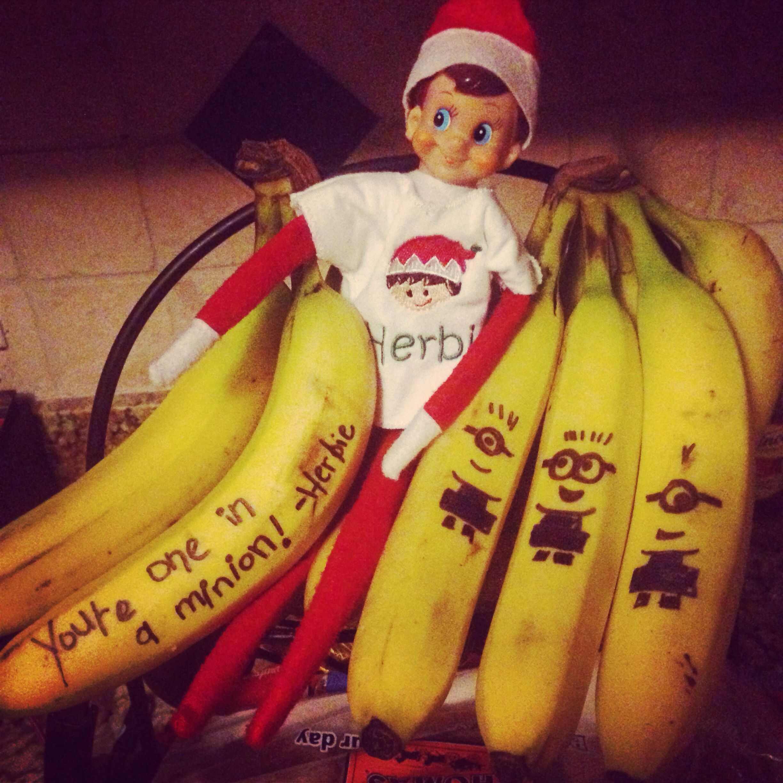 Elf On The Shelf Minion Bananas Elf And Shelf Elf On The Shelf
