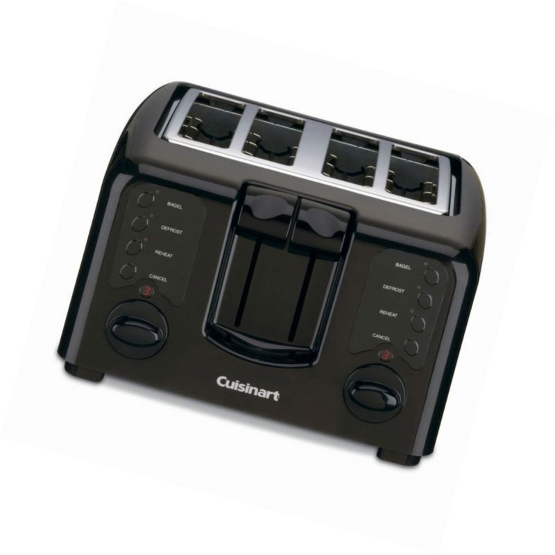 Toasters 77285: Cuisinart Cpt-140Bk Electronic Cool Touch 4 Slice ...