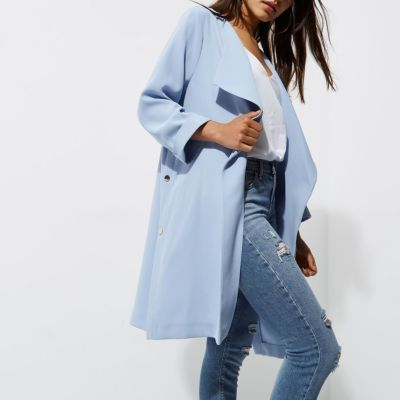 classic shoes choose clearance select for clearance River Island Womens Petite light blue duster coat | Products ...