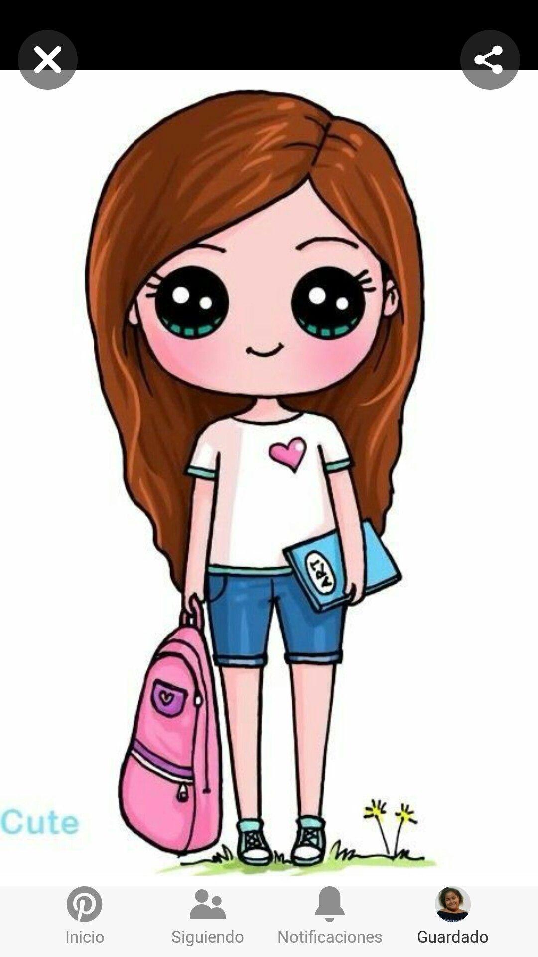Cute Drawings Of Girls Com Imagens Desenhos Desenhos