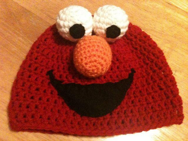 Elmo Hat   Handschuhe häkeln, Handschuh und Mütze