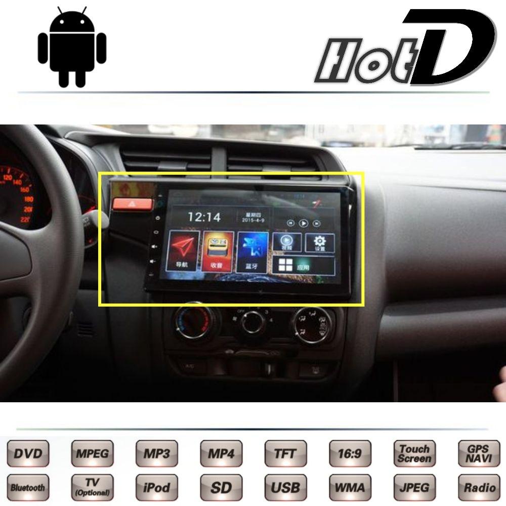 For Honda Fit Jazz Gk5 2013 2014 2015 2016 Car Multimedia Dvd Player Gps Navigation Android System Big Monitor Screen N Honda Fit Jazz Gps Navigation Honda Fit