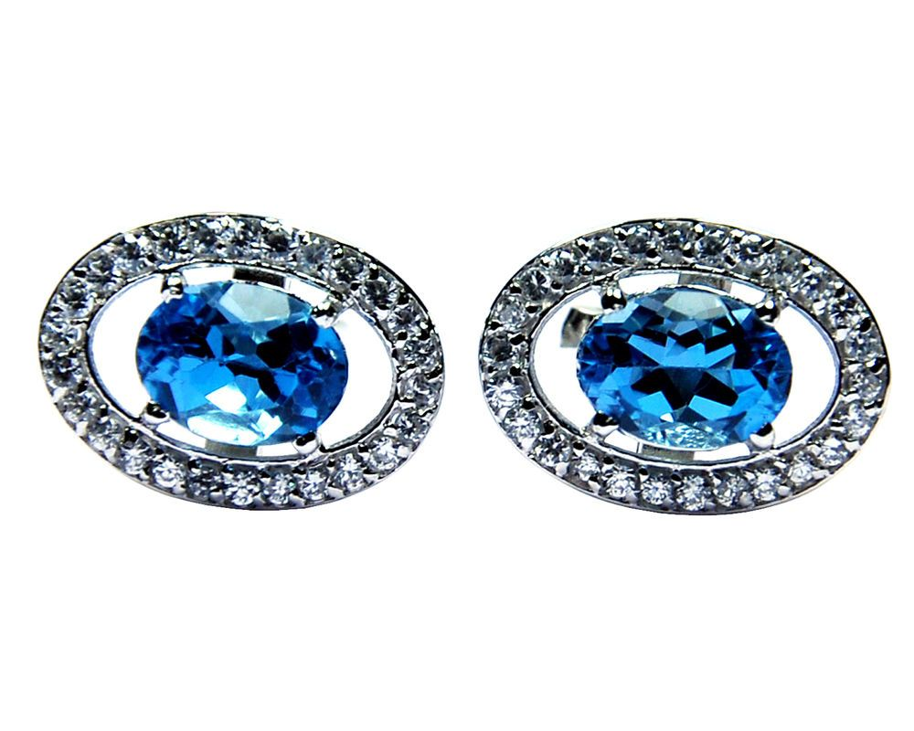 Natural Blue Sapphire  /& CZ Gemstones with 925 Sterling Silver Men/'s Cuff links