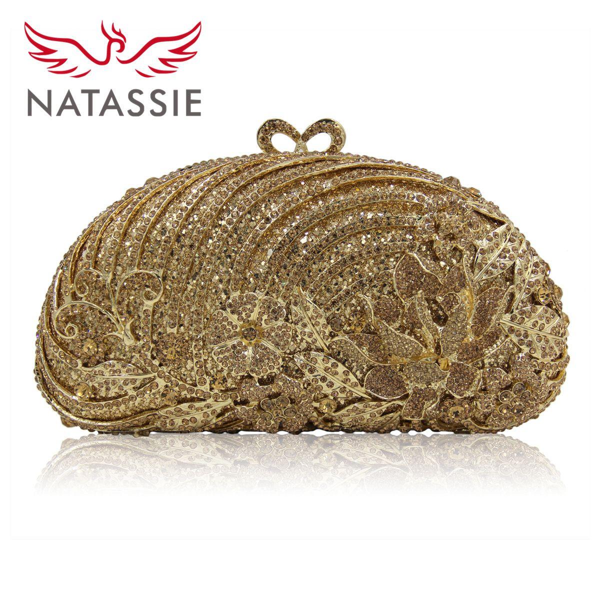 Natassie Women Flower Crystal Bags Las Evening Bag Female Clutches Purses