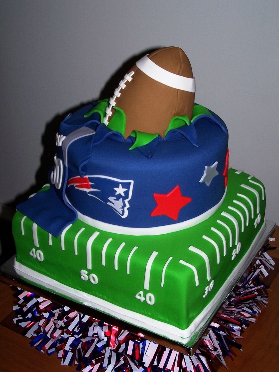 New England Patriots Patriotic Cake Superbowl Cake Sports Birthday