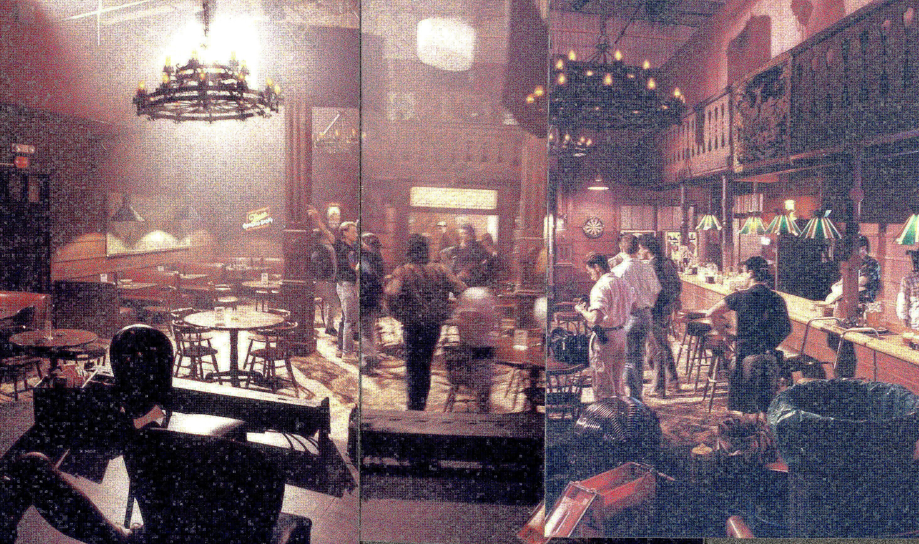 On set photograph of Roadhouse (Bang Bang Bar) from Twin Peaks. Set design by Richard Hoover