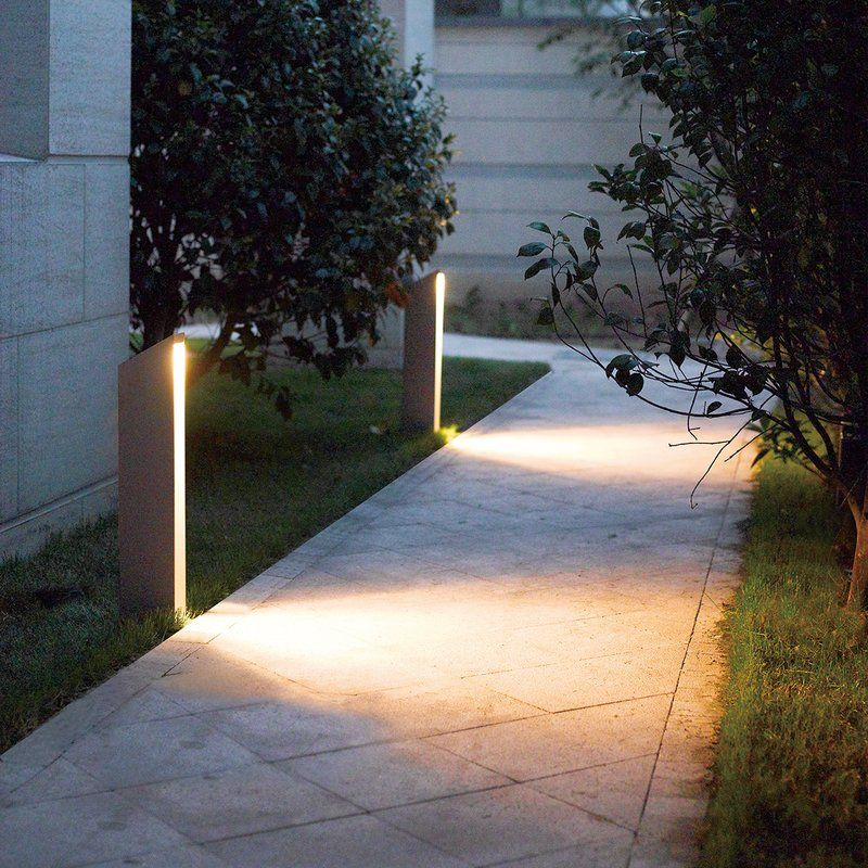 Outdoor Led Bollard Light Landscape Lighting Design Outdoor Lighting Landscape Modern Landscape Lighting