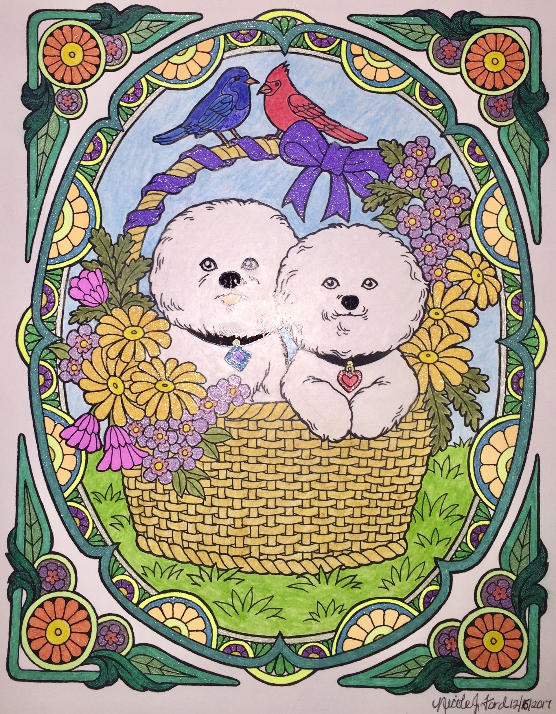 Colorit dogs everyoneus best friend adult coloring book colorist