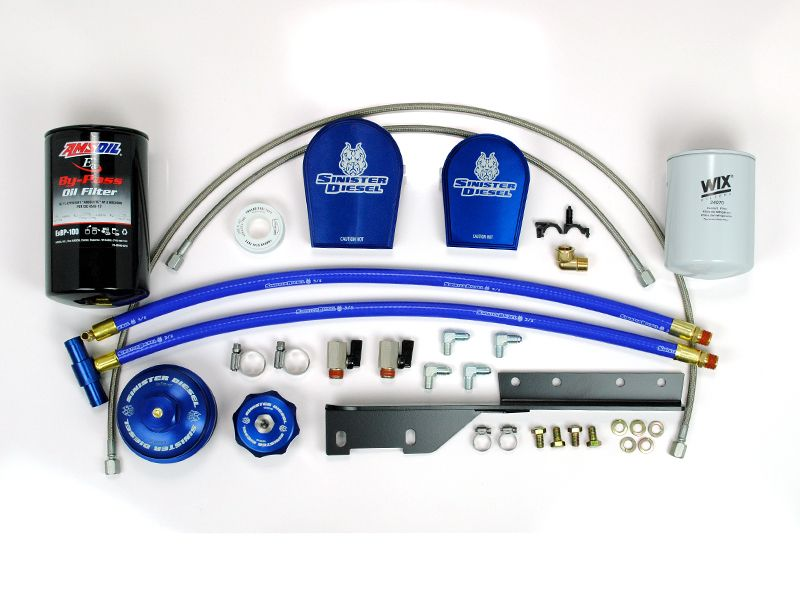 Sinister Diesel External Oil Filter System With Coolant Filter Diesel Oil Powerstroke Ford Powerstroke
