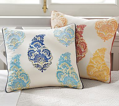Mimi Paisley Pillow Cover Potterybarn Our Home Pinterest Stunning Pottery Barn Decorative Pillows On Sale