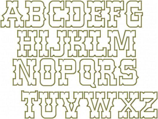 Western Font Alphabet Letters | Miztlis party | Letter stencils