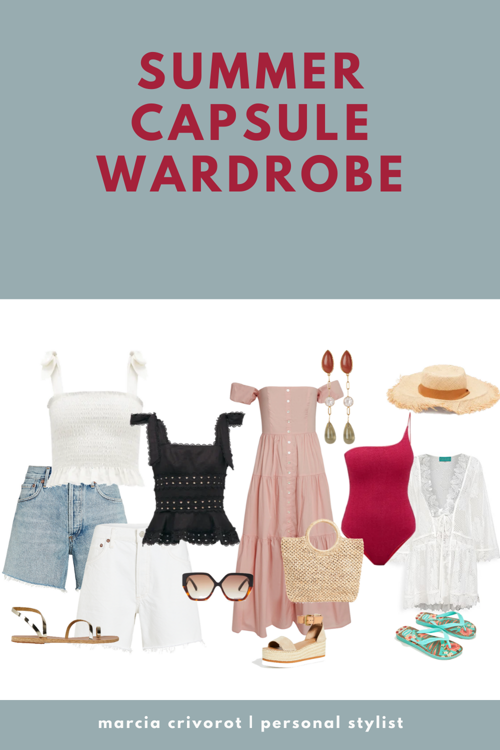 This Summer outfits 2020 board is a perfect Summer capsule wardrobe. Casual shorts, nice
