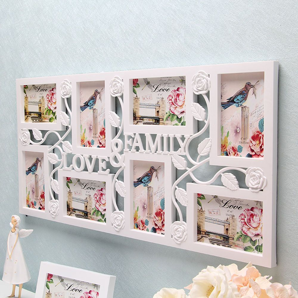 White Multi Photoframe Frames Love Family Picture Wall Decor Photo ...